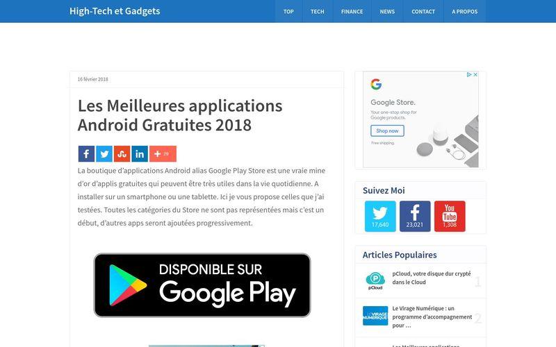 Les Meilleures applications Android Gratuites 2018 : Vincent Abry